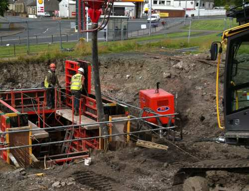 Shotts – construction of a new 6.5 meter deep reinforced concrete drop chamber